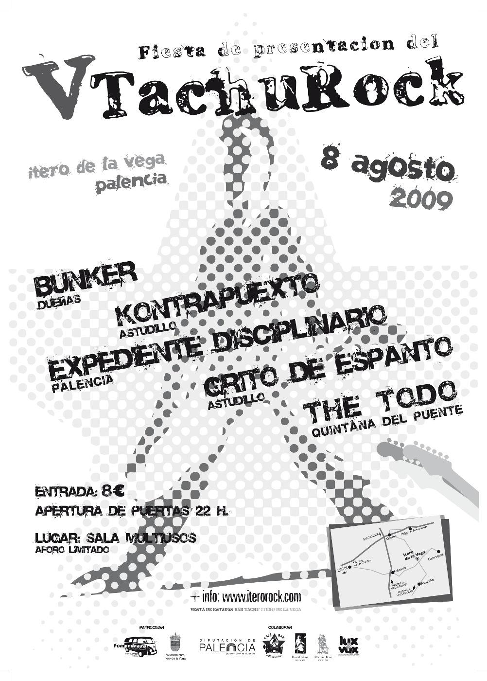 Cartel concierto previo al Festival TachuRock 2009